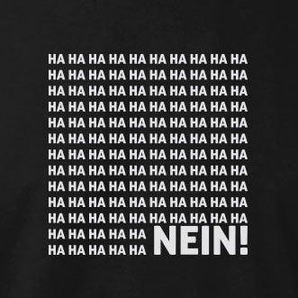TEXLAB - Ha Ha Ha Nein - Langarm T-Shirt Rot