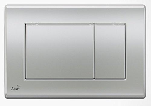 WC Vorwandelement für Trockenbau 85 cm inklusive Betätigungsplatte Chrom Matt Typ Quadro Unterputzspülkasten Spülkasten Wand WC hängend Schallschutz