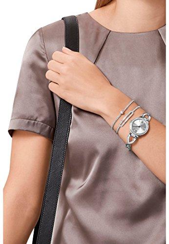 CHRIST times Damen-Armbanduhr Edelstahl Analog Quarz One Size, silberfarben, silber - 6