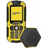 Stanley S121 Téléphone durci débloqué 2G/WiFi (Ecran : 2 pouces - Double SIM - IP67) Jaune/Noir + Enceinte bluetooth [Pour les Professionnels]