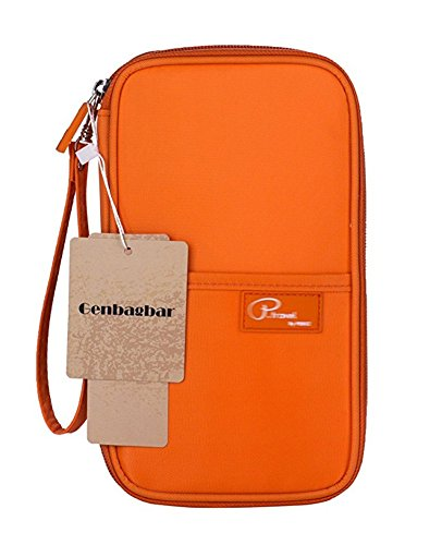 Genbagbar Hände Strap Reise Clutch-Bag Passport -Mappen-Halter-wasserdichte Nylon (Orange) (Reise-halter Pass)