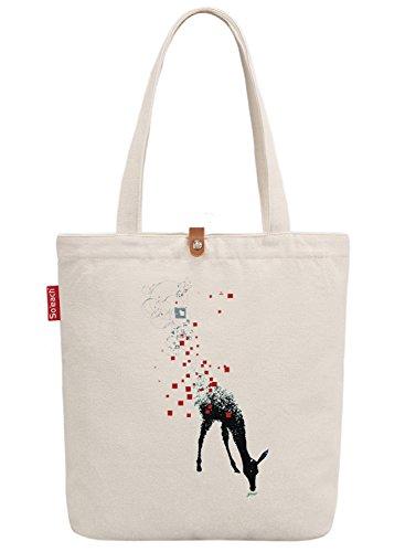soeach-womens-cute-animal-deer-graphic-canvas-tote-shopper-shopping-bag