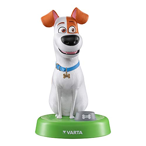 VARTA Pets Nachtlicht Max für Kinder inkl. 3xAAA Longlife Power Batterien Taschenlampe, Orientierungslicht, Stimmungslicht für Schlafzimmer mit Touch-Sensor und An- und Ausschalt-Funktion (Pet-lampe)
