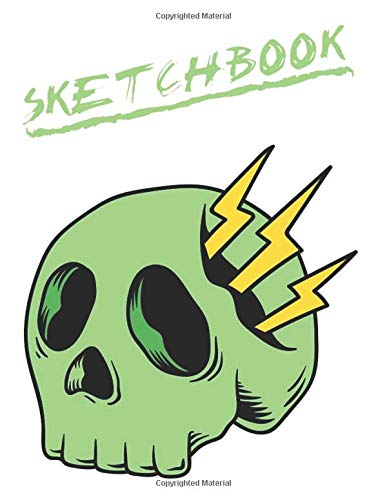 ll Sketchbook for Adults/Children to Sketching, Whiting, Drawing, Journaling and Doodling, Large (8.5x11 Inch. 21.59x27.94 cm.) 120 Blank Pages (GREEN&WHITE&YELLOW&BLACK Pattern) ()