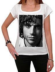 Mika, tee shirt femme, imprimé célébrité,Blanc, t shirt femme,cadeau