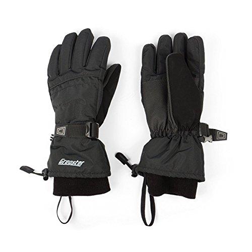 Gregster Herren Skihandschuhe und Snowboardhandschuhe in schwarz | atmungsaktive, modische und sportliche Winterhandschuhe | warme...