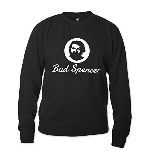 Bud Spencer Herren Official Logo Sweatshirt (schwarz) (XL)