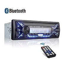 Autoradio FM Bluetooth Stereo Auto QINFOX 7 Colori LCD 4 * 60W MP3 con Porte USB/Micro SD Ingresso AUX Telecomando Microfono Incorporato,Manuale in Lingua Italiana in PDF