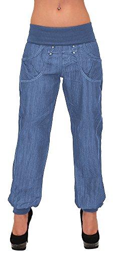69d08cad04e73f ESRA Damen Jeans Hose Haremshose Pumphose Damen Jeans Boyfriendhose  Boyfriend Jeanshose J132