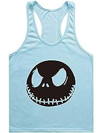 Befox Herren Cotton Fitness Gym Shirt Men Stringer Tank Top K/ürbiskopf Weste Muscleshirt Print Sport Vest
