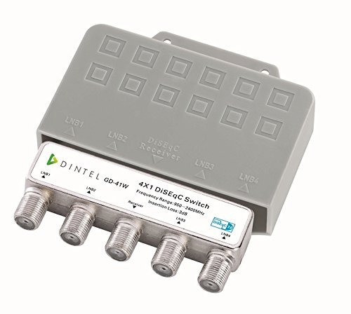 Dintel - Conmutador Diseqc 4x1 de 950-2400 MHz Exterior Dintel