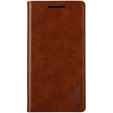 iPhone 5G/5S/5C/5SE Custodia - [BLUE MOON FILP]VENTER® Leather Flip Custodia with Flip Folio Wallet Stand up Credit Card Holder Leather Custodia Cover Holster per Apple iPhone