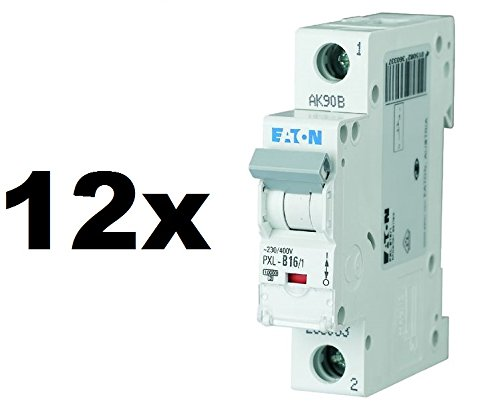 12x EATON PXL-B16/1. LS-Schalter 16A 1p B-Char 236033