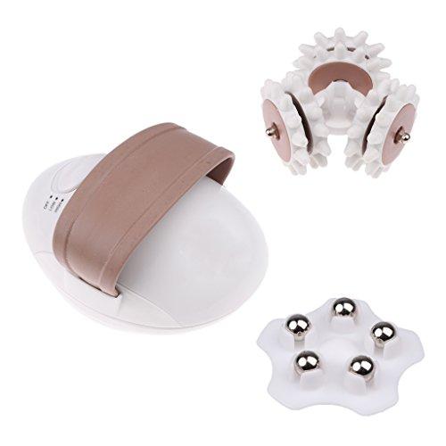Gazechimp Mini 3D Masajedor Eléctrico de Cuerpo Cara Quema Grasa Anti Celulitis EU Plug