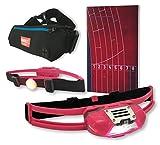 NiteView Stirnlampe für Läufer mit Rücklicht, inkl. Neopren-Lauftasche und Lauftagebuch