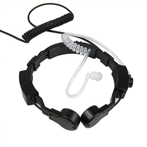 Lindahaot Durable Throat Mikrofon Mic Headset Ersatz für Kenwood Baofeng O9D6 Two Way Radio Headset Hörmuschel Kenwood Radio Headsets