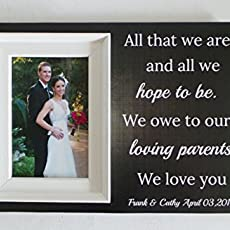 Wedding frame for dad,dads wedding frame,thank you dad,wedding gift ...