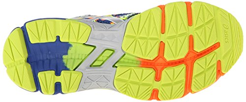 Asics Gel-Noosa Tri 10 GS Synthétique Chaussure de Course Blue-Lightning-Flash Yellow