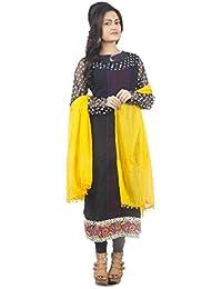 De Global Citizen Women's Cotton Dupatta (KC047_Orange_Coloured_Free Size)