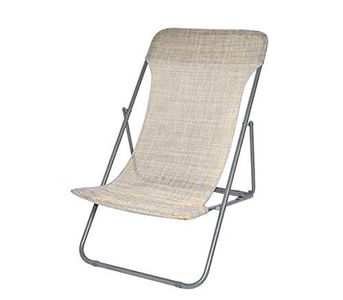 Mediawave store sedia sdraio pieghevole 099520 onshore 3 posizioni spiaggina textilene (beige)