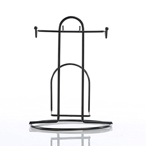 NabothT Metall Becherhalter Edelstahl Blume runden Glas Regal Rack Cup Regal, T - Becherhalter -
