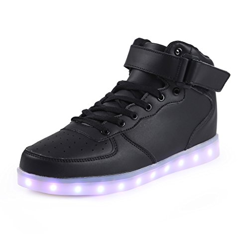 SAGUARO-Unisex-8-Colors-USB-Carga-LED-Luz-Luminosas-Flash-Zapatos-Zapatillas-de-Deporte-Para-Hombres-Mujeres-Blanco-Para-Los-Reyes-Magos