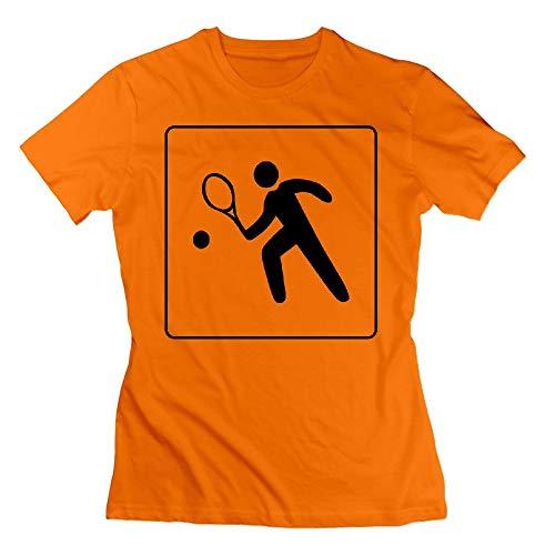 32 Hotel Icon Has Tennis Court Womens Tshirts Orange Court Hotel
