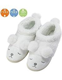 mhgao Ladies Casual zapatillas de lana en el interior para mantener caliente en otoño y invierno ante zapatillas, 5, 35
