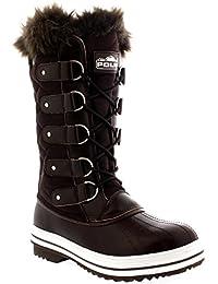 Damen Schnee Stiefel Nylon Tall Wasserdicht Gefüttert Regen Stiefel