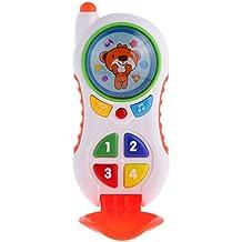 MagiDeal Juguete Electrónico Musical de Teléfono Electrónico Que Aprende Juguetes para Niño Bebé - B