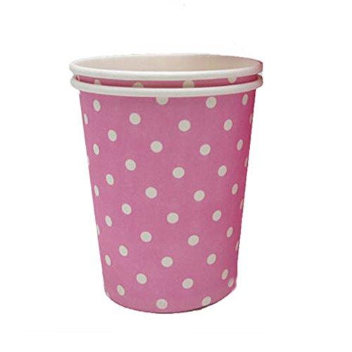 Alien Storehouse Rosa 8.25 Unzen 50 Count Einweg-Pappbecher Kaffee Pappbecher weiße Punkte -