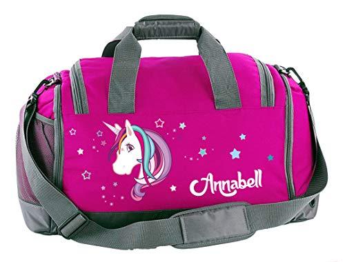 ti-Sporttasche in Pink mit Schuhfach mit Name, 41 L, Einhorn Beauty 60 ()