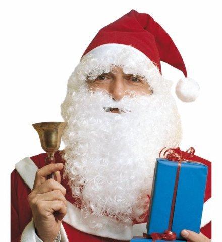 Authentisches Winter Weihnachtsmann Set Perücke Bart Christmas Stanta Claus