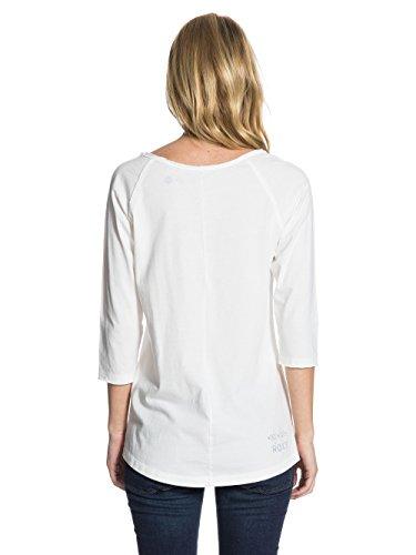 Roxy Scoop Raglan - T-shirt - Uni - Manches 3/4 - Femme Écru (Sea Spray)