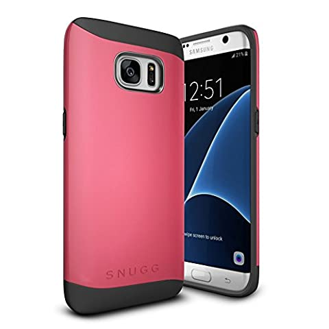 Coque Galaxy S7 Edge, Snugg Samsung Galaxy S7 Edge Double Couche Case Housse Silicone [Bouclier Légère] Etui de Protection – Rouge, Infinity Series