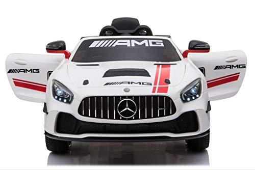 Epicstuff UK Lizensiertes Mercedes-Benz GT4 Sport-Edition, 12 V, für Kinder, mit Eva-Reifen und Fernbedienung - Car Ride Mercedes On Kids