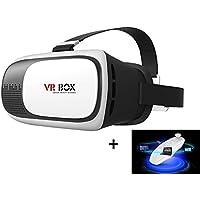 Mactrem Gafas 3D VR para Realidad Virtual   con Control Remoto, Bluetooth   Ajustable   Universales para Móviles de 3.5-6 Pulgadas   para Películas 3D y Juegos de Vídeo