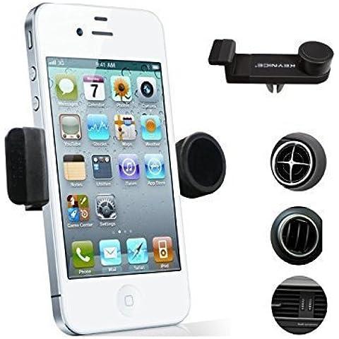 Keynice Teléfono celular soporte de coche, coche de la salida de aire horquilla del montaje para el iphone 6 / 6plus / 5s / 5 / 4s / 4, del montaje del coche universal para los teléfonos inteligentes Samsung Galaxy S6 / S5 / S4 / S3, Samsung Galaxy Note 2/3/4, HTC uno, Nexus 4, LG Nexus 4, Nokia Lumia teléfono inteligente y