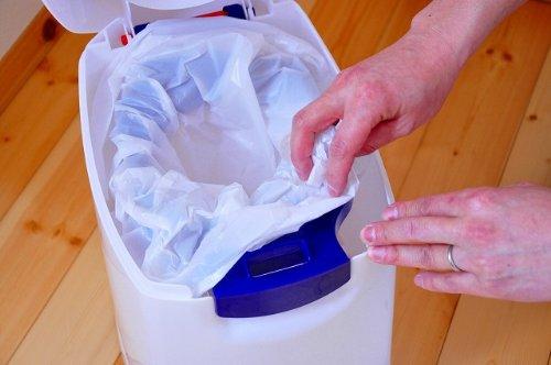 Geruchsdichter Windeleimer Diaper Champ regular blau – für normale Müllbeutel - 19