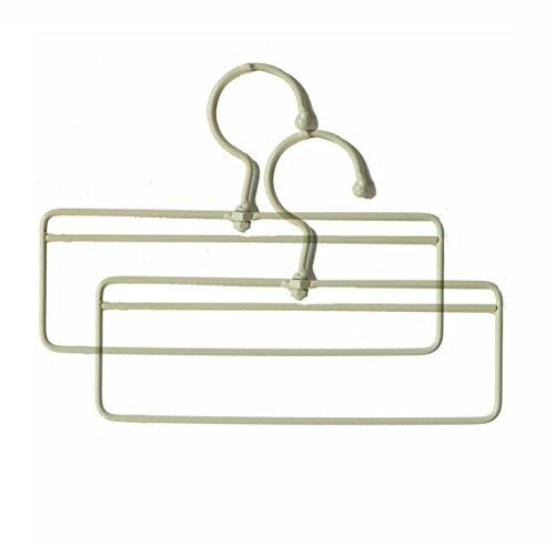 Hoocozi Vintage beschichtetem Eisen Küche Handtuchhalter, 2, Weiß (Gürtel Swivel Hanger)