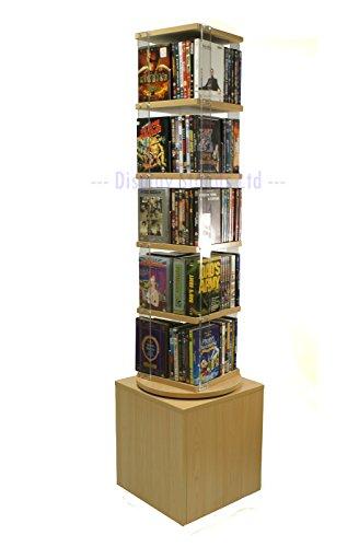 Rotante Media Stand per DVD e Libri (D7) - Acero usato  Spedito ovunque in Italia