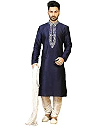 IWS art silk Fabric neavy blue Color Traditional indian mens wear K-5328-