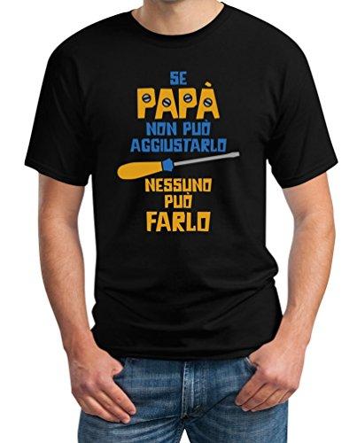 Regalo festa del papà - se papà non può aggiustarlo t-shirt maglietta uomo xxx-large nero