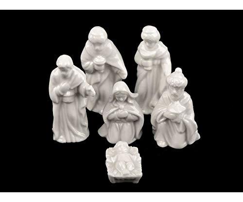 1set bianco di ceramica in miniatura presepe, altre decorazioni di natale