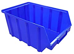 15 Stück Stapelboxen – blau