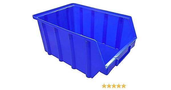 40 St/ück Stapelboxen 102 x 167 x 76 mm - stapelbar//Sichtbox//Regalbox//Lagerbox Gr/ö/ße 2 blau