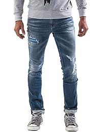 Meltin'Pot - Jeans MISFITS D0131-UP382 para hombre, estilo skinny, ajuste ceñido, talle baja