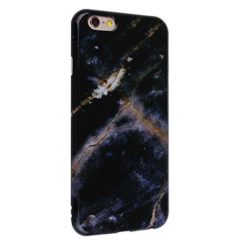 iPhone 6/6S Backcase, iPhone 6 Handyhülle Marmor, iPhone 6S Handyhülle Marmor, Marble Marmor Design, Moon mood® Hülle für Apple iPhone 6/6S 4.7 Zoll Weich Silikon TPU Hülle Handytasche Etui Bumper Fle Marmor 2