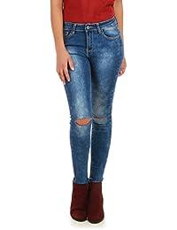 La Modeuse - Jeans slim délavé avecdesdéchirures au niveau des genoux