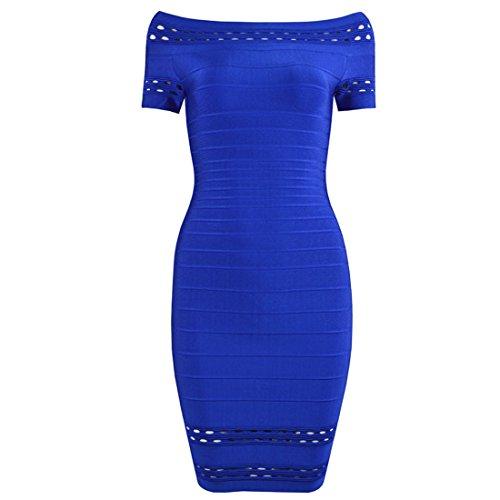 HLBCBG Damen Kleid schwarz schwarz 36 Blau